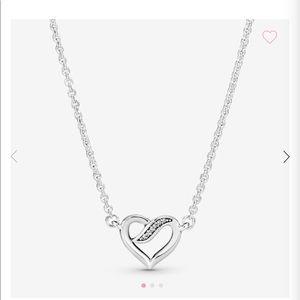 Pandora Ribbon Open Heart Necklace